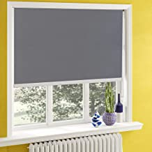 Blackout Window Shades for Bedroom,Room Darkening Blinds Black Out,Window Roller Shades with Back in White to Waterproof,Thermal for Privacy Bathroom and Kitchen[Gray 100% Blackout,W45 1/2xH55(Inch)]