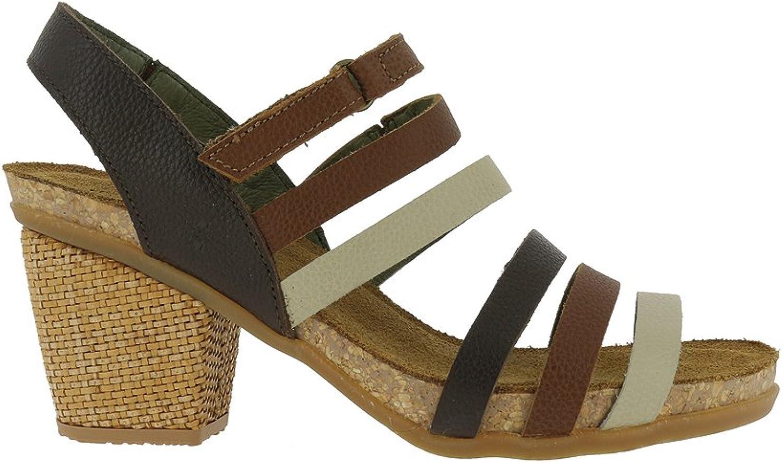 El Naturalista Womens N5030 Soft Grain Gpinklla Mixed Mola Heeled Sandal