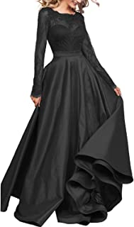 Women's Long Sleeve Prom Evening Dress Maxi Pockets Bridesmaid Formal Gowns