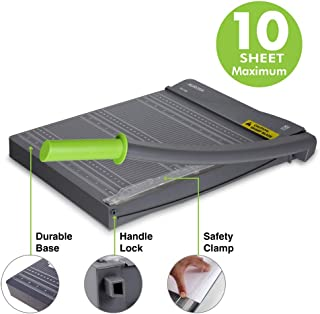 Aurora Paper Trimmer, cuts Maximum 10 Sheet, with Safety Clamp and Safety Lock Protection