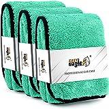 EASY EAGLE Panno Asciugatura Auto, 1400GSM Panni Microfibra per Detailing, Pulizia d'interni dell'auto, 40x40CM, 3 Pezzi