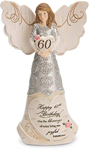 Pavilion Gift Company 82415 Elements Angels Happy 60th Birthday May The Blessings Of Today Bring You Joyful Tomorrows