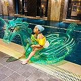 Svvsgf Nadadores de Aire, PVC Inflable Transparente Caballito de mar Fila Flotante Agua Inflable Juguete Flotante Caballito de mar Inflable Fila Flotante