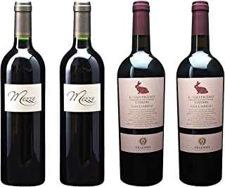 [ 4本 まとめ買い ワイン 飲み比べ ] 2016年 メッツオ ベルジュラック ルージュ (シャトー デ ゼサール) 750ml と 2017年 ロッソ ピチェーノ スペリオーレ ブレッチャローロ (ヴェレノージ) 750ml ワインセット