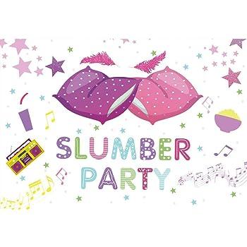 Amazon Com Mehofoto Slumber Party Backdrop Sleepover