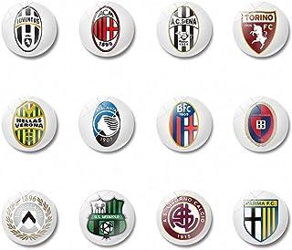 12 Pcs Serie a Glass Refrigerator Magnets Round Soccer Football Team Atalanta Bergamasca Calcio Magnets Florentina Football Club Magnets Football Team Badge Logo Fridge Magnets for Football Fans Kids