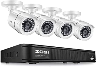 ZOSI 1080p Home Security Camera System Kit,1080N CCTV DVR 4 Channel and (4) 2.0MP 1080P Weatherproof Surveillance Bullet Camera Outdoor/Indoor with Night Vision (No Hard Drive)