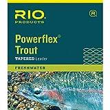 Rio Fly Angeln Leaders Powerflex astreines 9ft 1x Leaders Angelschnur, transparent