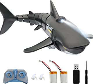 2.4G Remote Control Shark Toy 1:18 Scale High Simulation Shark Shark for Swimming Pool Bathroom Great Gift RC Boat Toys fo...