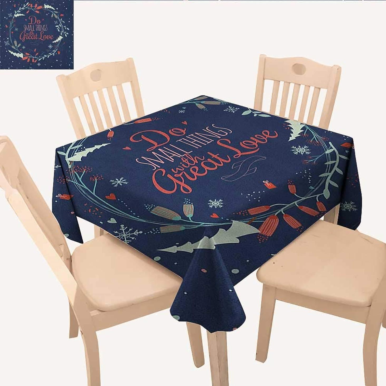 例悪化する回転longbuyer 引用句 布製テーブルクロス 親と赤ちゃんの象 花柄の背景 母の日 スローガン ダイニングテーブルカバー マルチカラー W 70