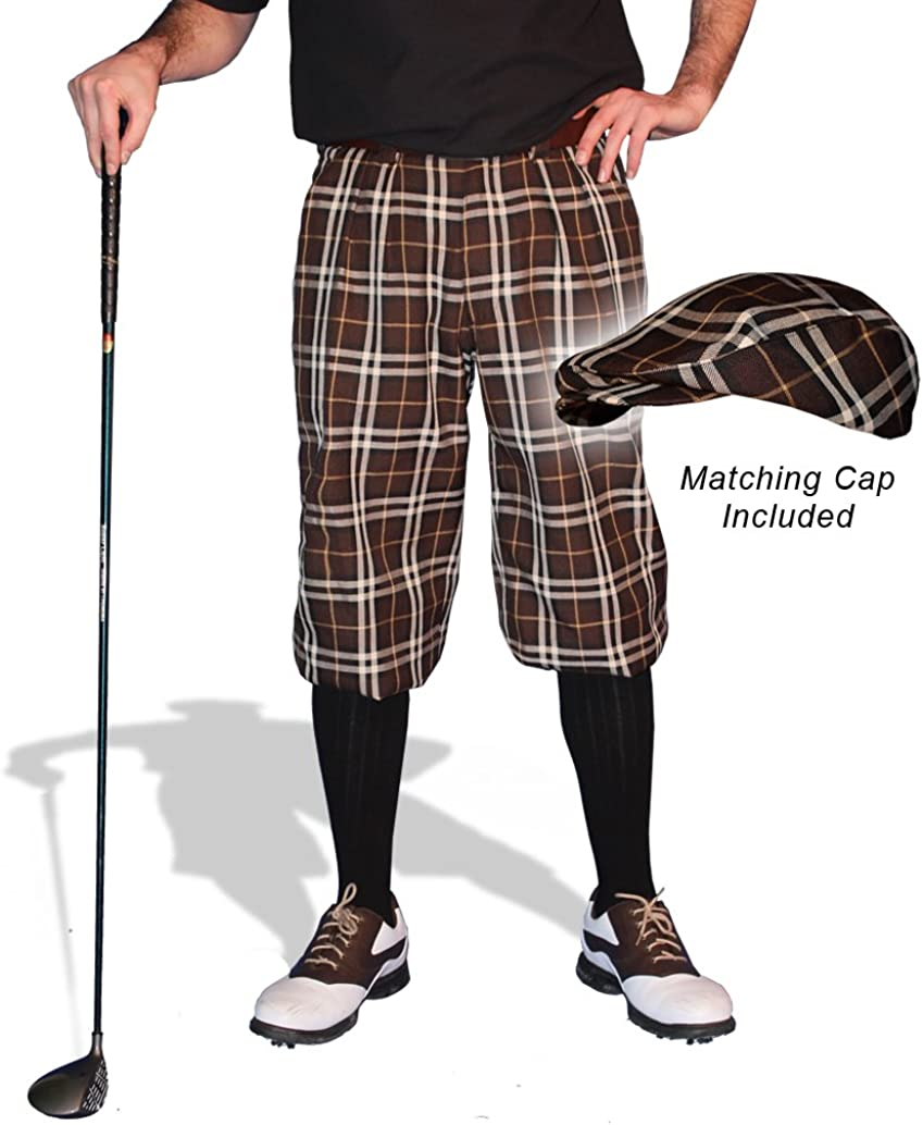 Golf Knickers Limited Special Price Plaid and Max 88% OFF Cap: - Adirondack 'Par 5' Mens