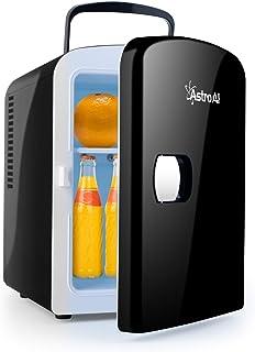 comprar comparacion AstroAI 4L Mini Nevera Pequeña Portátil 12 V/220 V para Coche y Casa, Tanto en Frío Como en Calor 0-66°C (Negro)