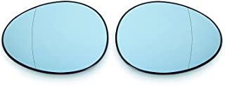 Euro Wing Mirror Glass Tinted Blue Heated Anti Blind Spot For Mini R55 R56 R57 R58 S JWC