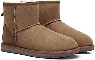 UGG Boots Mini Classic Premium Australian Sheepskin Water Resistant Ankle Shoes, Chestnut - AU Ladies 11/ AU Men 9/ EU42