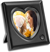KWANWA Picture Frame 3.9X 3.9inch with 15s Voice Recording Heart-Shaped Desk Photo Frame