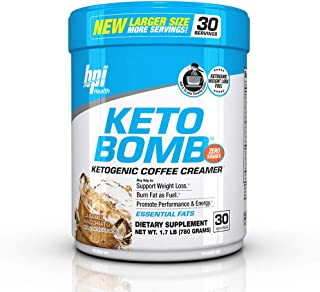 BPI Sports Health Keto Bomb - Ketogenic Coffee Creamer - Amazing Taste - Supports Weight Loss - Essential Fats - Boosts En...