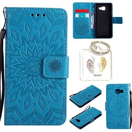 für Samsung Galaxy A3 2016 ( A310 F ) Geprägte Muster Handy PU Leder Silikon Schutzhülle Handy case Book Style Portemonnaie Design für Samsung Galaxy A3 2016 ( A310 F ) + Schlüsselanhänger(/*5) (3)