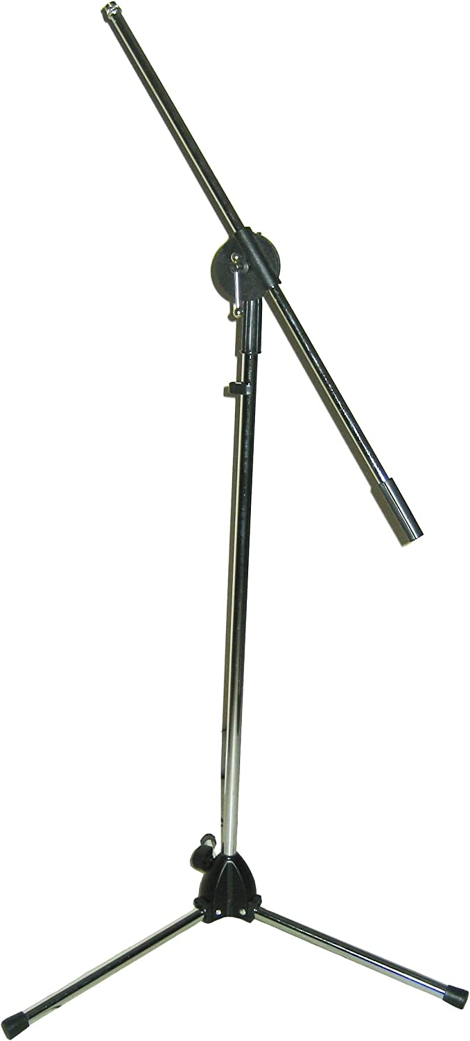 Blast King IMS305 Folding Base Microphone excellence Stand with Chrom Fresno Mall Boom