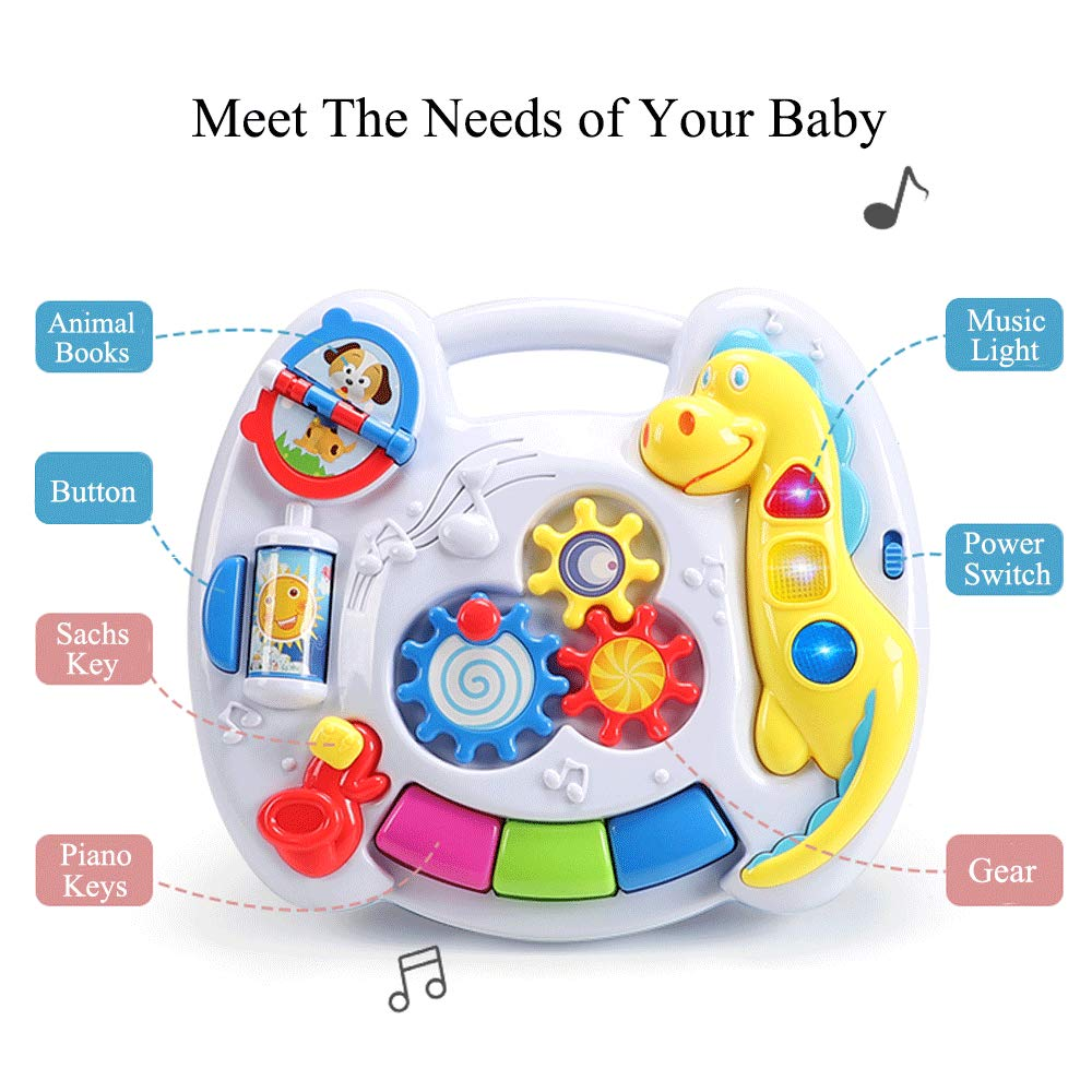 YMDLY Toys Up Early Education Activity Center Musical Learning Table Multiple Modes Game Toys Kids Toddler Infant Boys /& Girls Toys for 1 2 3 Years Old Gifts