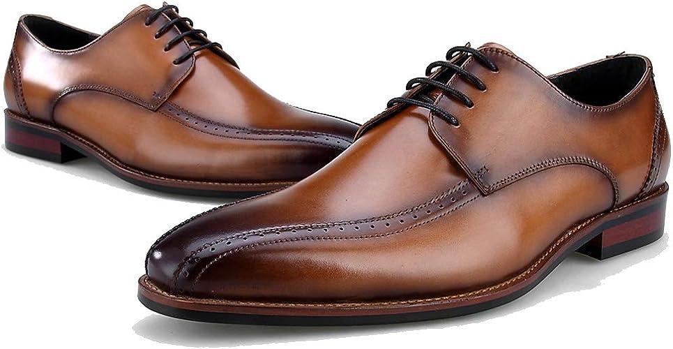 DANDANJIE Mens Chaussures d'affaires Style Britannique Chaussures Casual Chaussures Formelles De Mariage Accent