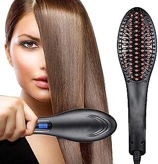 RYLAN Hair Electric Comb Brush 3 in 1 Ceramic Fast Hair Straightener For Women's Hair Straightening Brush with LCD Screen,...