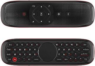 لوحة مفاتيح لاسلكية Wechip W2 2.4G Air Mouse مع لوحة لمس ماوس بالأشعة تحت الحمراء جهاز تحكم عن بعد لأندرويد تلفزيون بوكس ب...