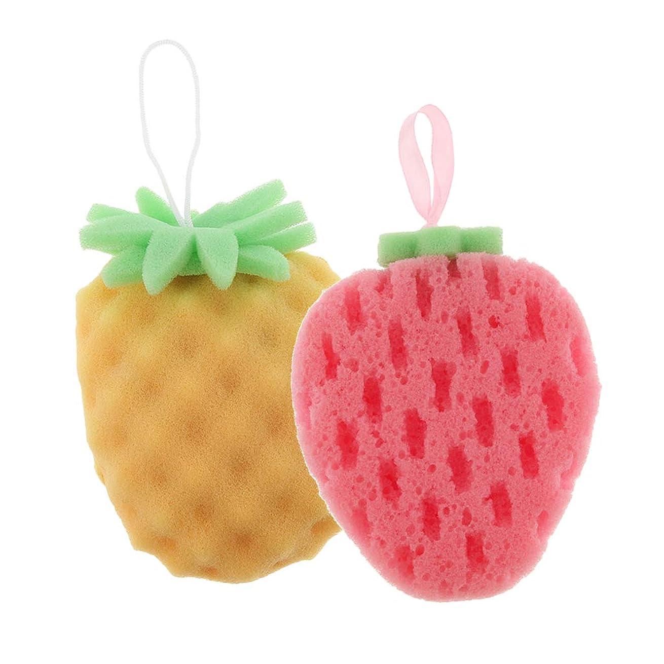立ち向かう中世のマークダウンBaoblaze 2個 バススポンジ ボディスポンジ 可愛い フルーツ 果物の形 子供 お風呂