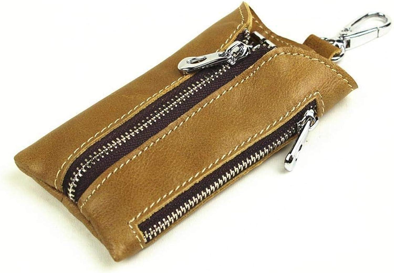 Girls Purse Lady Purse Key Bag Zipper Multifunction Retro PU Leather Car Key Chain