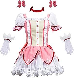 Updayday Anime Puella Magi Madoka Magica Kaname Madoka Disfraz de Cosplay Madoka Kaname Vestido Uniforme Escolar Fiesta Halloween Carnaval Disfraz para niñas