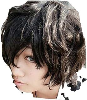 Mister Bear Hitman Reborn Lambo Katekyo Black Cosplay Costume Cosplay Costume Wig