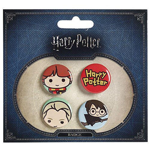 Licenza ufficiale Harry Potter Chibi Design Button Distintivi Style Three