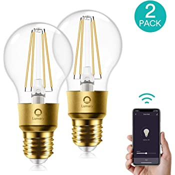 4 St/ücke 60W /Äquivalent E27 A19 Retro Gl/ühbirne Edison Vintage Stil kompatibel mit  Alexa Warmwei/ß Google Assistant und SmartThings Smart Gl/ühbirne Meross WLAN Dimmbare LED Lampe