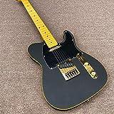 LYNLYN Guitarras Guitarra Eléctrica Negro Matte Pintura Gold Hardware Guitarra Eléctrica Guitarras De Cuerda De Acero Acústico Guitarra eléctrica (Color : Guitar, Size : 41 Inches)
