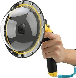 AFAITH Onderwater Dome Poort voor GoPro Hero 9, Dome Port Cover Case Camera Lens Protector met Drijvende Bobber Handvat + ...