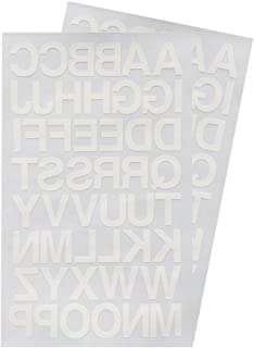 Iron on 1-Inch Transfer White Letters - 2 Sheet (Black or White Optional)