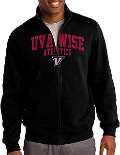 Men University Of Virginia's College At Wise UVa-Wise Logo Zip-up Jacket Hooded Sweatshirt Black