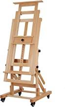 MEEDEN Deluxe Movable H-Frame Studio Easel,Muti-Function Artist Easel, Heavy Duty Art Easel,Display Easel,Extra Large and ...