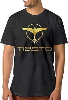 Enghuaquj Men's Dj Tiesto Logo Short Sleeve T-Shirt Black