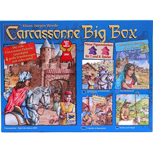 Hans im Gl Carcassonne Big Box 2014 - Grundspiel mit Fluss & 4 Erweiterungen