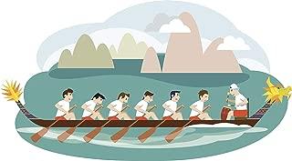 NGK Trading Cool Dragon Boat Race Cartoon (4