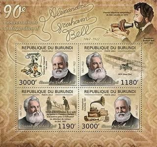 Burundi - 2012 Inventor Alexander Graham Bell - 4 Stamp Sheet - 2J-322