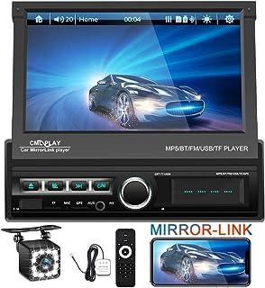 "EKAT Single DIN Car Stereo 7"" HD Touch Screen Car Head Unit Support Bluetooth GPS Mirror Link FM/USB/SD/MP5/Hands-free ,Ba... photo"