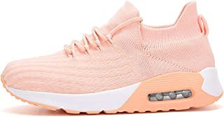 Lady Flying Woven Breathable Shoes Non-Slip Wear-Resistant Cushion Sneakers