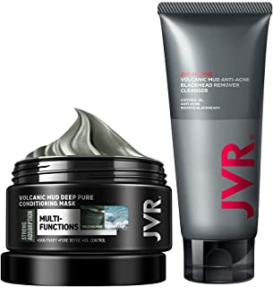 Volcanic Clay Mask and Facial Cleanser, Deep Pure Conditioning Oil Control and Remover Blackheads for Men Women