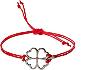 Wish Bracelets four leaf clover for Teen Girls Good Luck, Gift jewelry, red string, Make a wi