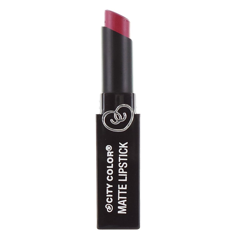 便利さ略語最悪CITY COLOR Matte Lipstick L0050D - Velvet (並行輸入品)
