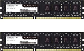 کیت TEAMGROUP Elite DDR3 16GB (2 x 8GB) 1600MHz (PC3-12800) CL11 Unbuffered Non-ECC 1.5V UDIMM 240 Pin PC ماژول حافظه دسک تاپ کامپیوتر