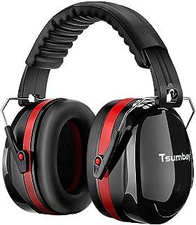 Tsumbay 防音 イヤーマフ 騒音 対策 聴覚過敏 遮音値34dB ANSI S3.19&CE EN352-1認証済み 折り畳み式 超弾力性 子供 キッズ 大人 勉強 仕事 睡眠 イビキ対策 工場 自閉症