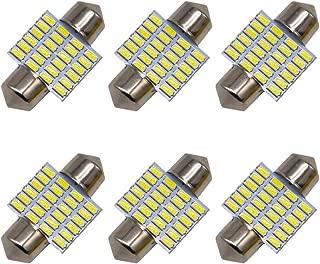 6Pcs DE3175 DE3021 DE3022 6428 C5W 31mm/1.25'' Festoon LED Bulbs, 24 SMD 3014 Chipsets 3175 LED Bulbs for Interior Light,Car Light,Licence Plate Light, Dome Light,Map Light,6000K White