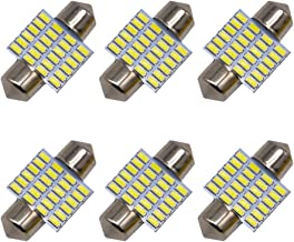 6pcs 31mm DE3175 DE3021 LED Light Bulbs for Car Interior Lights Map Dome Door Courtesy Light Bulbs-Earthland 31mm 1.25'' DE3021 DE3022 Festoon LED bulbs…